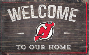 New Jersey Devils Welcome To Our Home Wood Sign