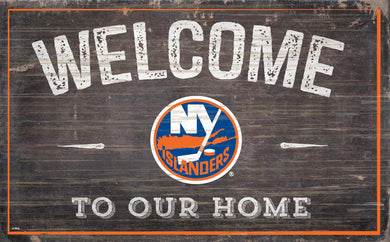New York Islanders Welcome To Our Home Wood Sign
