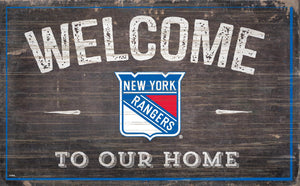 New York Rangers Welcome To Our Home Wood Sign
