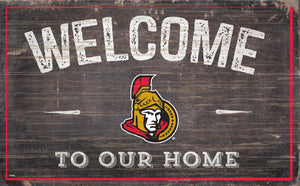 Ottawa Senators Welcome To Our Home Wood Sign