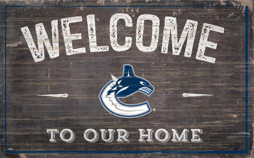 Vancouver Canucks Welcome To Our Home Wood Sign