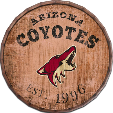Arizona Coyotes Established Date Barrel Top