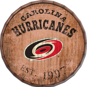 Carolina Hurricanes Established Date Barrel Top -24""
