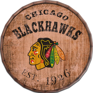 Chicago Blackhawks Established Date Barrel Top