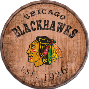 Chicago Blackhawks Established Date Barrel Top -24""