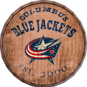 Columbus Blue Jackets Established Date Barrel Top -24""