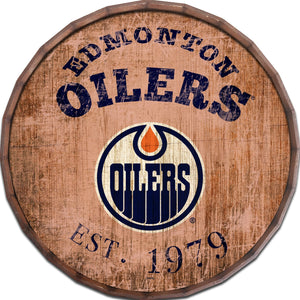 Edmonton Oilers Established Date Barrel Top -24""