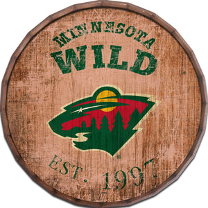Minnesota Wild Established Date Barrel Top