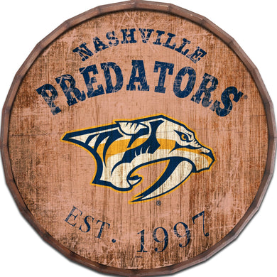 Nashville Predators Established Date Barrel Top -24