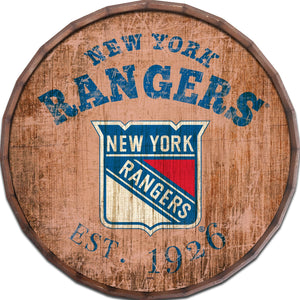 New York Rangers Established Date Barrel Top -24""