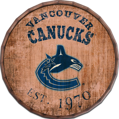 Vancouver Canucks Established Date Barrel Top