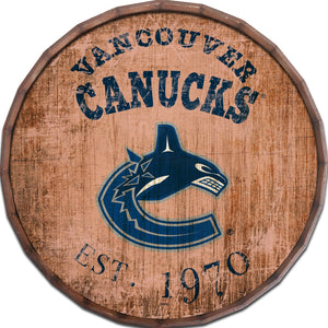 Vancouver Canucks Established Date Barrel Top -24""