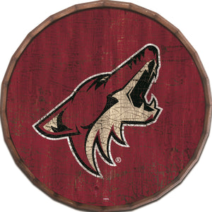 Arizona Coyotes Cracked Color Barrel Top -24""