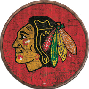 Chicago Blackhawks Cracked Color Barrel Top -24""