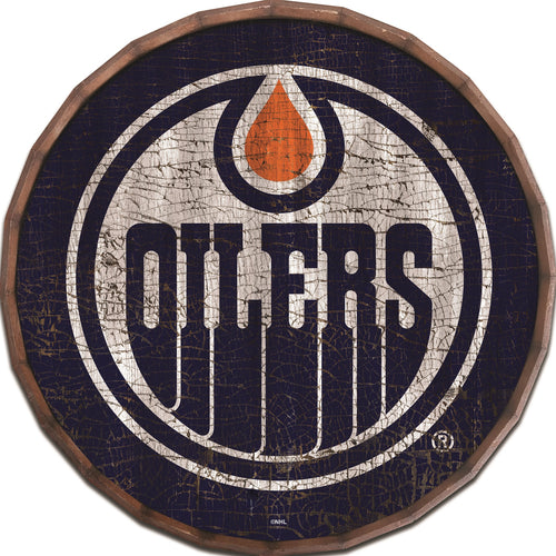 Edmonton Oilers Cracked Color Barrel Top