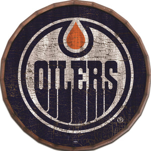 Edmonton Oilers Cracked Color Barrel Top -24""