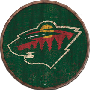 Minnesota Wild Cracked Color Barrel Top -24""