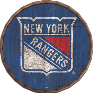 New York Rangers Cracked Color Barrel Top -24""