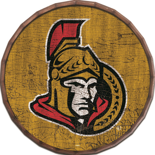 Ottawa Senators Cracked Color Barrel Top