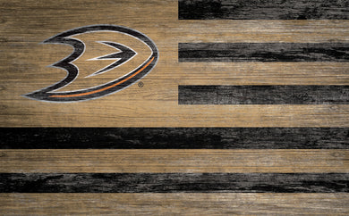 Anaheim Ducks Distressed Flag Sign