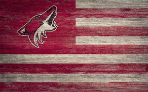Arizona Coyotes Distressed Flag Sign