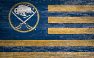 Buffalo Sabres Distressed Flag Sign