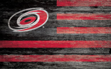 Carolina Hurricanes Distressed Flag Sign