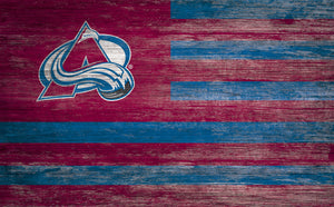 Colorado Avalanche Distressed Flag Sign