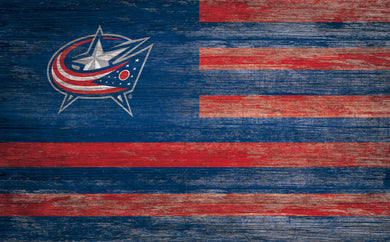 Columbus Blue Jackets Distressed Flag Sign