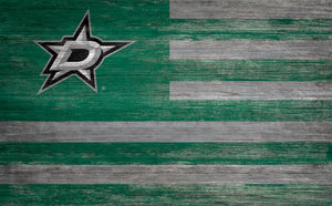 Dallas Stars Distressed Flag Sign