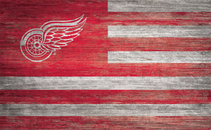 Detroit Red Wings Distressed Flag Sign