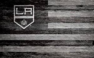 Los Angeles Kings Distressed Flag Sign