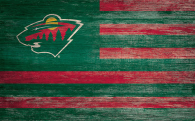 Minnesota Wild Distressed Flag Sign