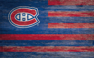 Montreal Canadiens Distressed Flag Sign