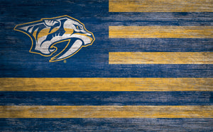 Nashville Predators Distressed Flag Sign