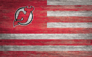 New Jersey Devils Distressed Flag Sign