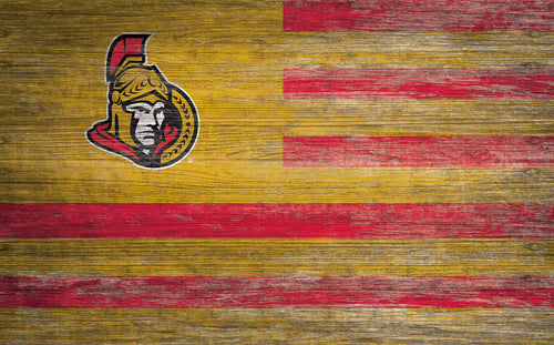 Ottawa Senators Distressed Flag Sign