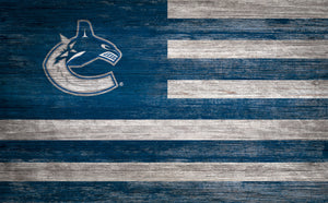 Vancouver Canucks Distressed Flag Sign