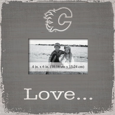 Calgary Flames Love Picture Frame