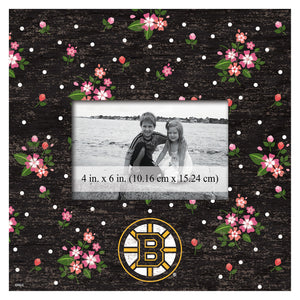 Boston Bruins Floral Picture Frame