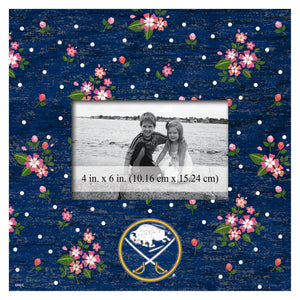 Buffalo Sabres Floral Picture Frame