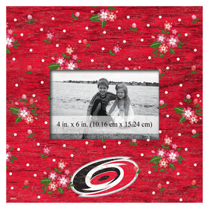 Carolina Hurricanes Floral Picture Frame