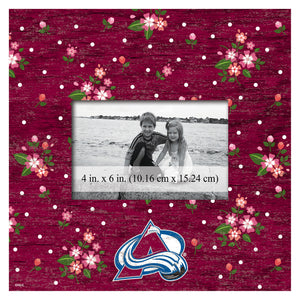 Colorado Avalanche Floral Picture Frame