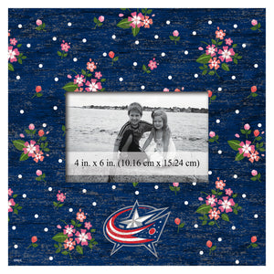 Columbus Blue Jackets Floral Picture Frame