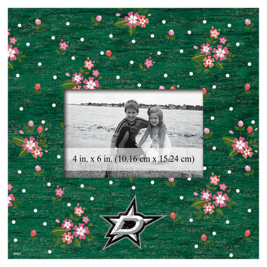 Dallas Stars Floral Picture Frame