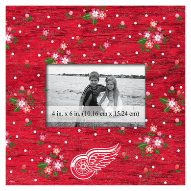 Detroit Red Wings Floral Picture Frame