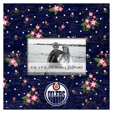 Edmonton Oilers Floral Picture Frame