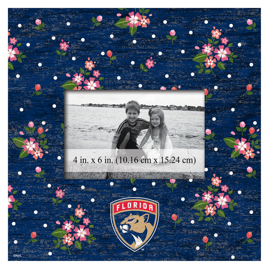 Florida Panthers Floral Picture Frame