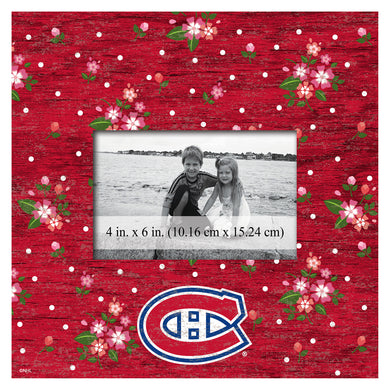 Montreal Canadiens Floral Picture Frame