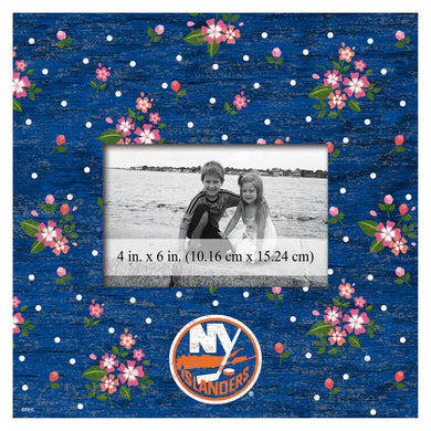 New York Islanders Floral Picture Frame